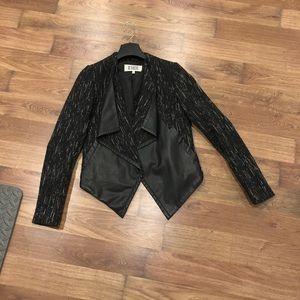 Wool and leather vegan BB Dakota blazer